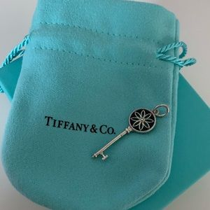 Tiffany Sterling Silver Daisy Key Pendant